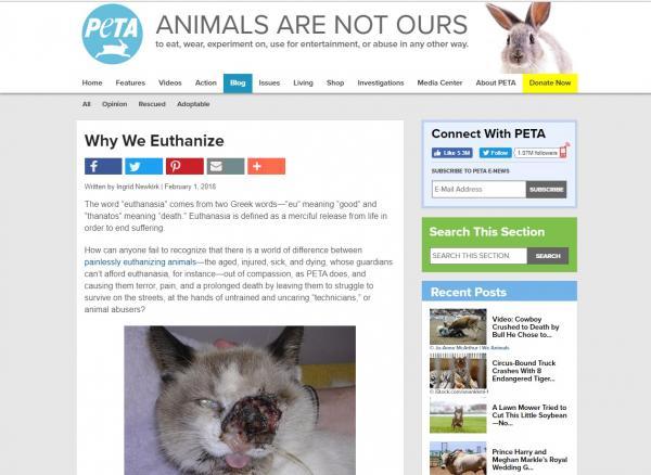 PETA - Kẻ đạo đức giả đằng sau những thông điệp nhân đạo? (Kỳ 2)