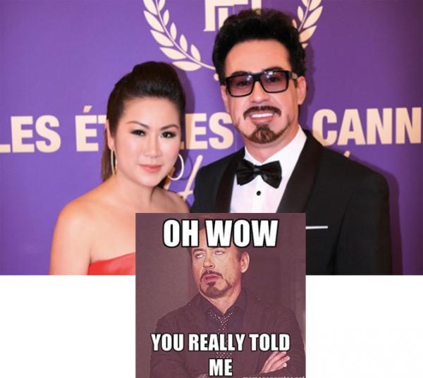 Người đẹp Việt hân hoan vì được chụp hình với siêu sao 'Iron Man', ai ngờ là... 'hàng super fake'