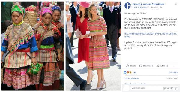 Hãng thời trang của Anh vướng tranh cãi khi 'dán nhãn' trang phục của người H'mông là 'bộ lạc'
