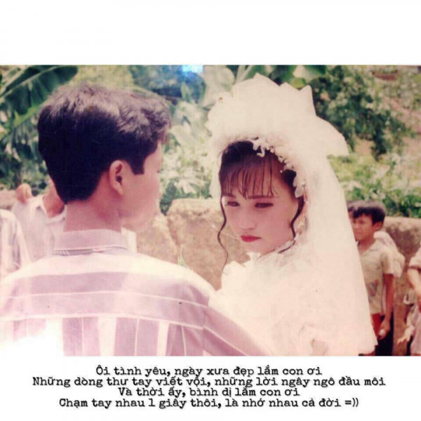 Đám cưới thời bố mẹ mình dung dị và trong veo đến nhường nào