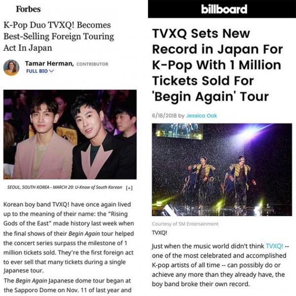 Cứ bảo hết thời nhưng TVXQ vẫn lập kỉ lục khó tin ở Nhật và được báo Mỹ tung hô hết lời
