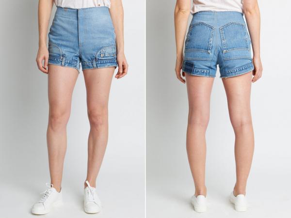 Lại một style thời trang chẳng giống ai: Quần jeans... lộn ngược