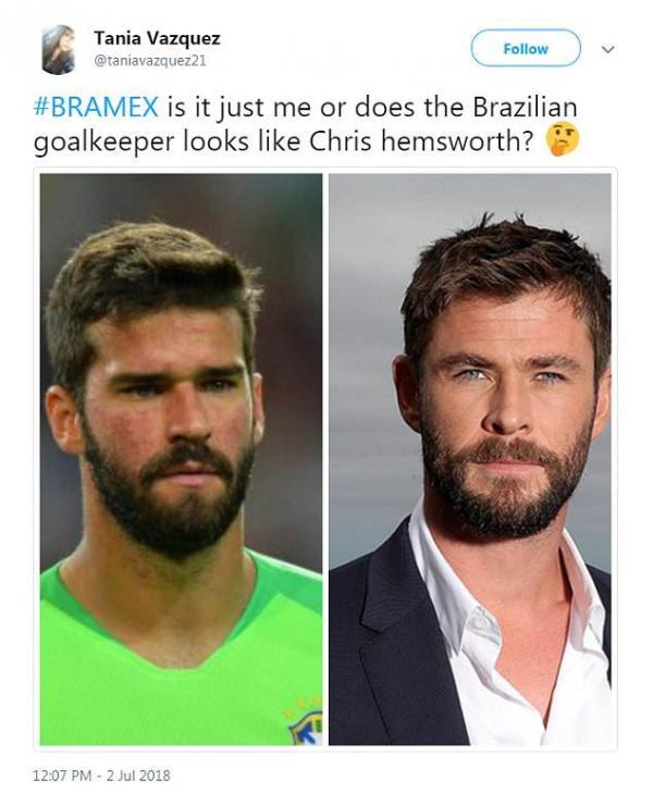 Cư dân mạng 'hết hồn' vì thủ môn đội tuyển Brazil trông giống 'Thor' Chris Hemsworth như tạc