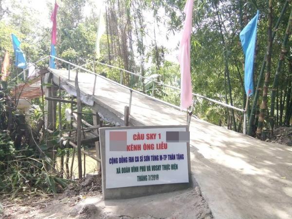 Sky xây cầu tặng người dân nghèo nhân sinh nhật Sơn Tùng M-TP
