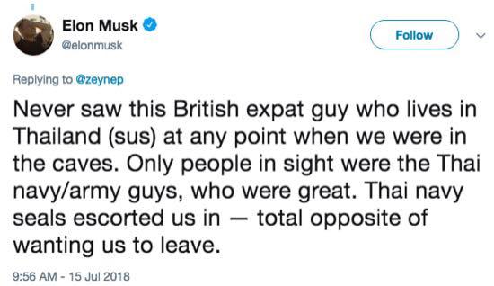 Tỷ phú Elon Musk và thợ lặn giải cứu đội bóng Thái Lan 'đấu võ mồm' xung quanh chuyện gửi tàu ngầm