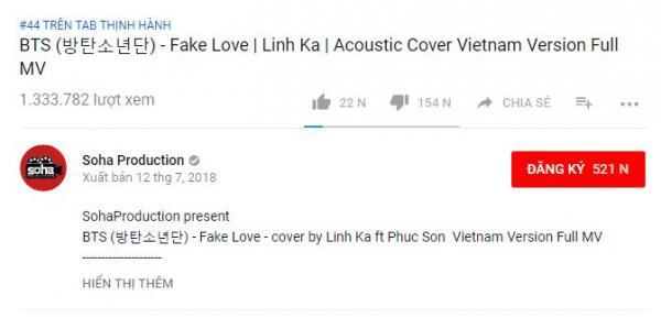 Hát lại 'Fake Love' của BTS, Linh Ka lập tức xuất hiện trên trang tin tức Hàn Quốc vì lý do 'khó đỡ' này