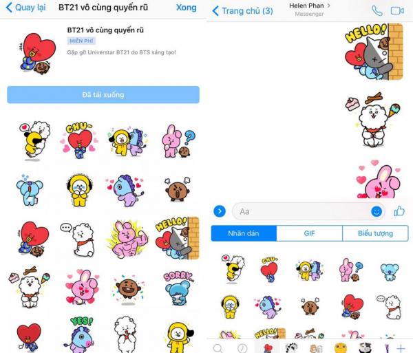 Hôm nay Facebook Messenger ra mắt bộ nhãn dán chủ đề BTS, fans khắp thế giới tung hoa ăn mừng