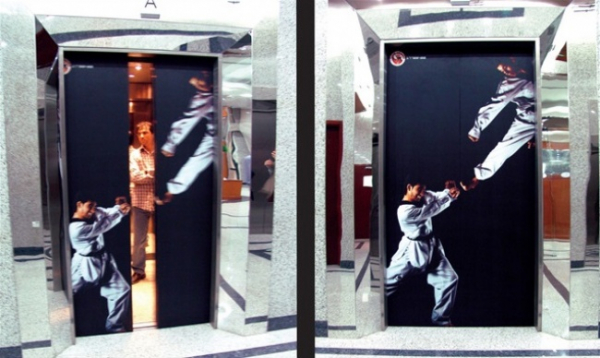 Thang máy là nơi nâng nghệ thuật quảng cáo lên một tầm cao mới
