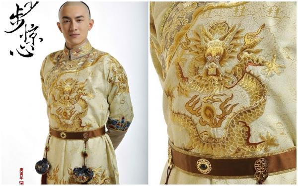 'Chết cười' với biểu cảm ngốc nghếch của những chú rồng trên long bào Hoàng đế