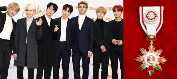 BTS là nghệ sĩ trẻ tuổi nhất nằm trong danh sách đề cử huân chương văn hóa của Chính phủ Hàn Quốc