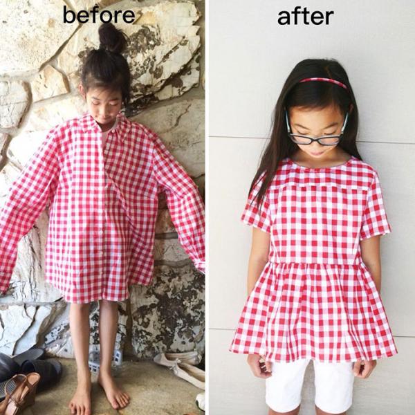 Người mẹ khéo tay 'hô biến' quần áo cũ thành những bộ cánh đẹp cho cả nhà