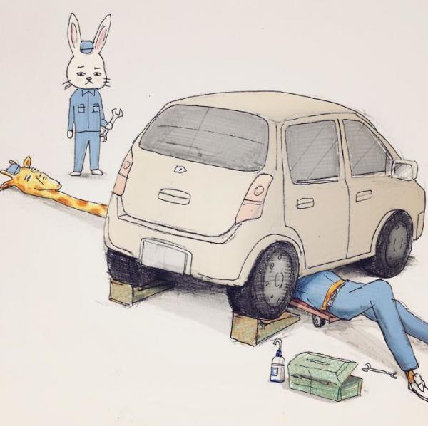 Thế giới động vật trong tranh của Keigo - chàng nhân viên văn phòng dí dỏm nhất vũ trụ