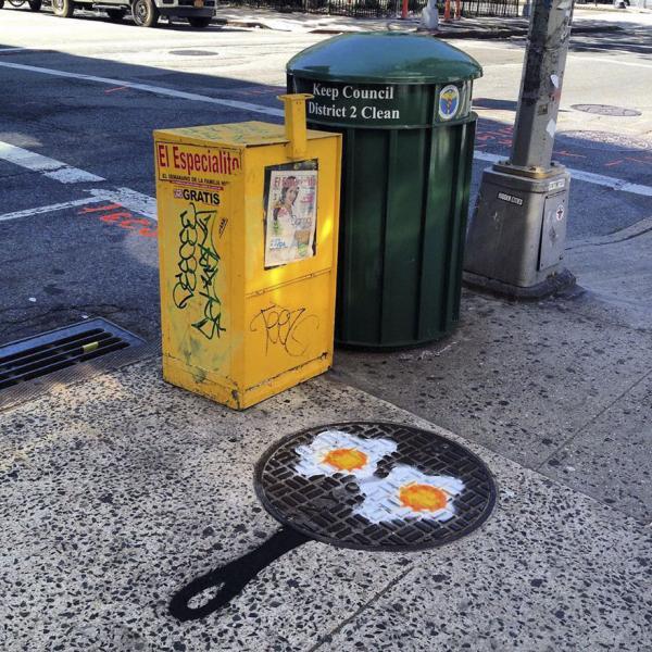 Họa sĩ đường phố tài ba 'hô biến' cuộc sống xung quanh thành những bức tranh sinh động