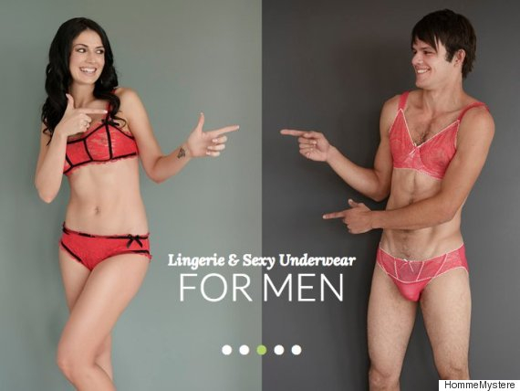 Xu hướng thời trang mới: Áo ngực ren và quần tất dành cho... nam?