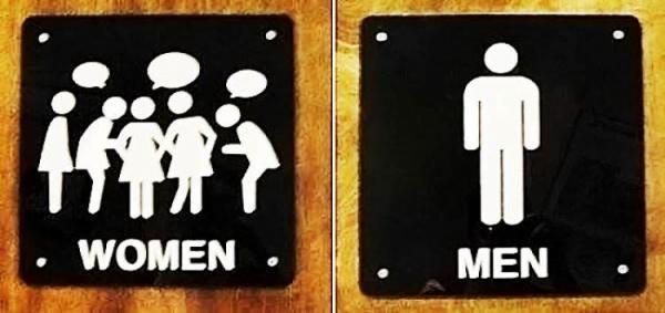Cười 'thắt ruột' với những biển báo nhà vệ sinh kỳ quặc nhất thế giới