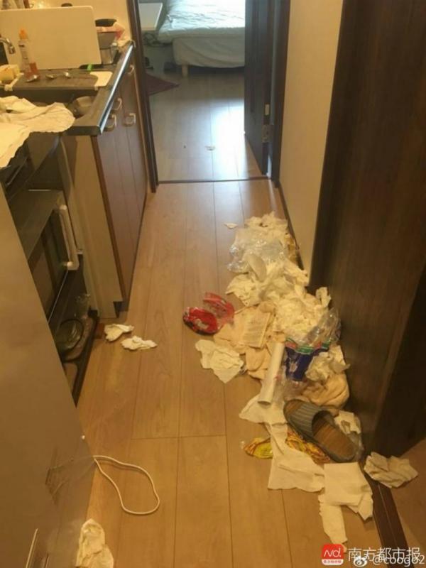 Các cô gái Trung Quốc ra về, để lại căn phòng trọ tan nát thảm thương cho chủ nhà