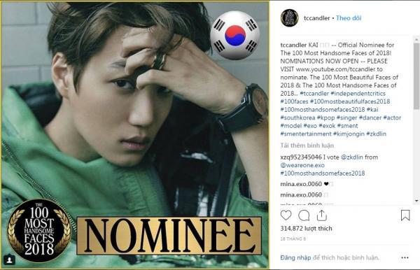 Mỹ nam Hàn Quốc thống trị danh sách đề cử '100 gương mặt đẹp nhất thế giới 2018', Việt Nam cũng có 2 đại diện 'đáng gờm'