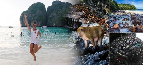 Bãi biển nổi tiếng bị ô nhiễm, chính phủ Thái Lan quyết tâm đóng cửa để cải tạo môi trường