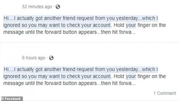Facebook cảnh báo tin nhắn 'Ai đó đã mạo danh tài khoản của bạn' cũng chỉ là trò lừa đảo