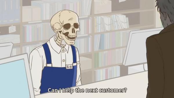 Fan anime hào hứng trước bộ phim hoạt hình đáng yêu về 'anh xương sọ' bán sách
