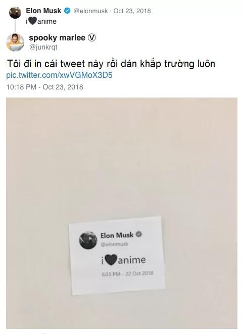 Buồn của Elon Musk: Tài khoản Twitter bị khóa chỉ vì nói yêu anime