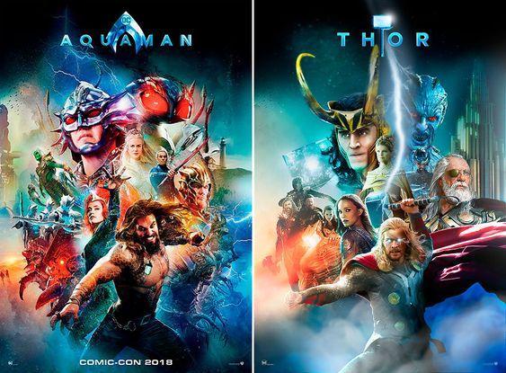Marvel và DC: Vũ trụ song song giữa những tấm poster