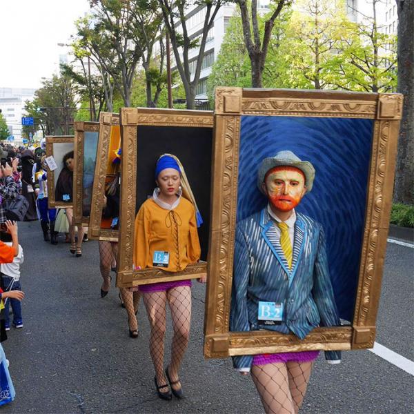 Hóa trang thành 6 bức họa kinh điển, nhóm sinh viên đến từ Nhật Bản 'ẵm nóng' 102 triệu đồng