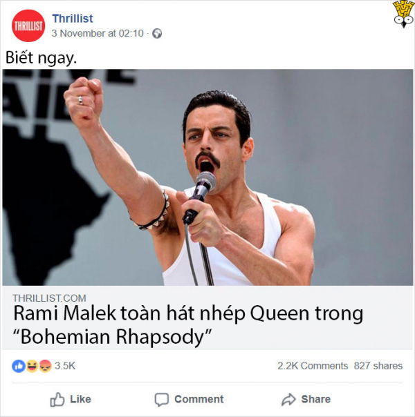Chê Rami Malek hát nhép, tờ báo bị cộng đồng mạng chê cười