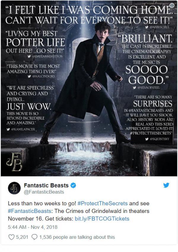 Các nhà phê bình phim cảnh báo 'Fantastic Beasts 2' sẽ có cái kết không nói nên lời?