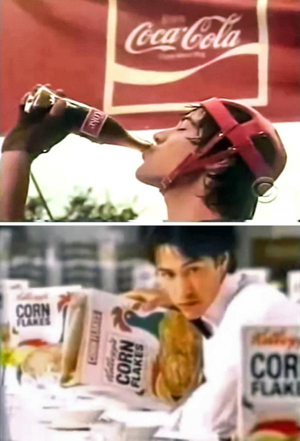Nhìn lại Brad Pitt, Keanu Reeves và loạt sao Hollywood thuở còn phải đi đóng quảng cáo kiếm sống