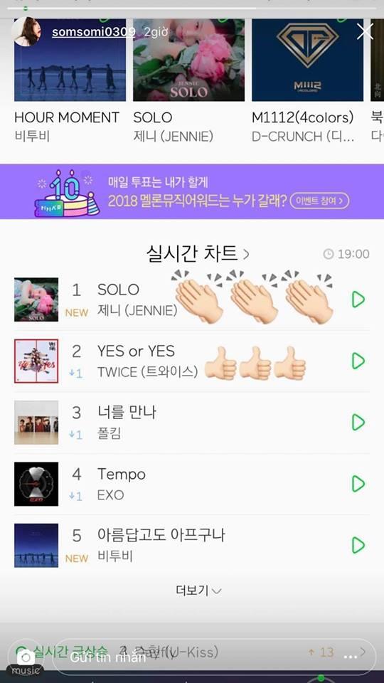 Somi gây tranh cãi khi chúc mừng Jennie đạt No.1 tiện thể chúc 'đồng nghiệp cũ' TWICE đạt No.2