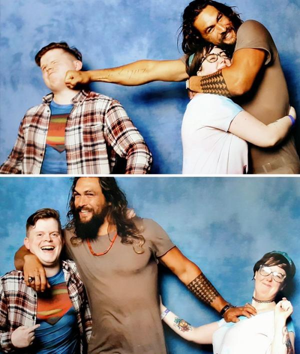 Ra mà xem Jason Momoa 'lầy lội' khi chọc ghẹo tất cả cặp đôi muốn chụp hình với mình