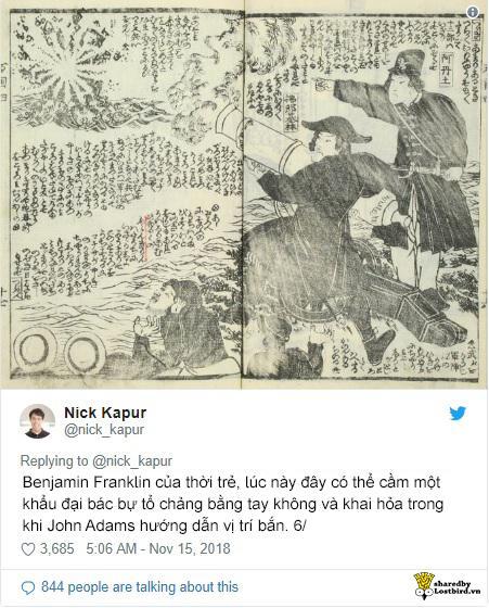 'Bế quan tỏa cảng' quá lâu, người Nhật ngây thơ miêu tả lịch sử nước Mỹ như chuyện cổ tích