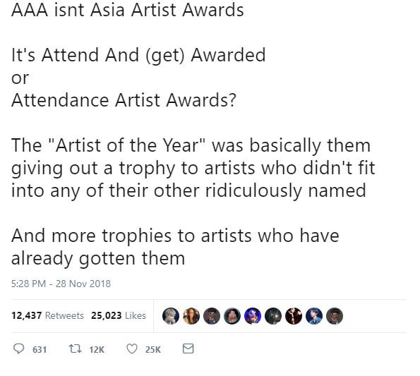 Có phải MMA và AAA là bằng chứng cho sự xuống cấp của các lễ trao giải Hàn Quốc?