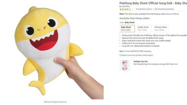 'Cơn ác mộng Baby Shark' đi muôn nơi vì Amazon đã mở bán cá mập bông biết hát