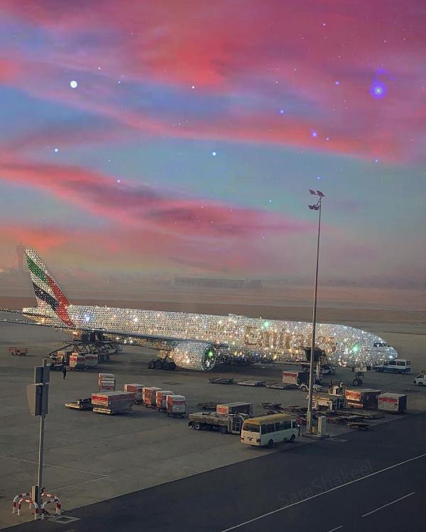 Bức ảnh chiếc máy bay phủ kín kim cương làm chao đảo cộng đồng mạng