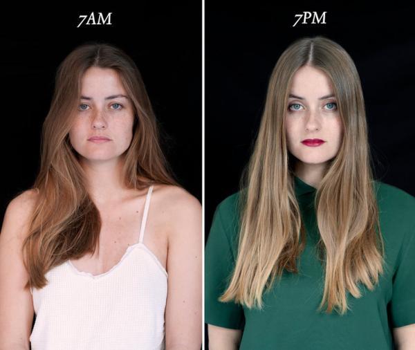 Bộ ảnh độc đáo: Bạn lúc 7 giờ sáng và 7 giờ tối
