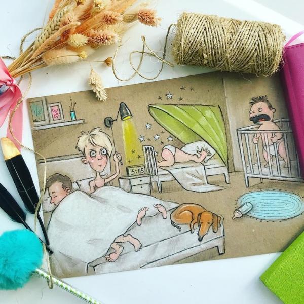 Tất cả các bậc phụ huynh có thể nhận ra chính mình trong bộ tranh về cuộc sống hàng ngày của bà mẹ hai con