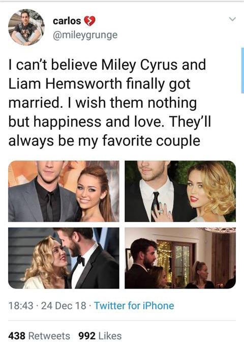 Loạt bằng chứng khiến fan tin rằng Miley Cyrus và Liam Hemsworth đã tổ chức đám cưới bí mật