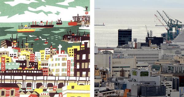 Thành phố Kobe, Nhật Bản ngày ấy - bây giờ qua ma thuật của những bức tranh khắc gỗ
