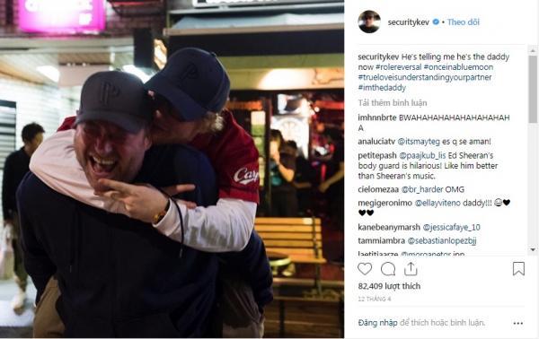 Chàng vệ sĩ 'lầy lội' của Ed Sheeran suốt ngày đăng ảnh lên Instagram trêu chọc ông chủ
