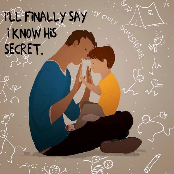 'Cha của tớ chính là siêu anh hùng' - Bộ tranh vừa đẹp vừa cảm động dành tặng các ông bố