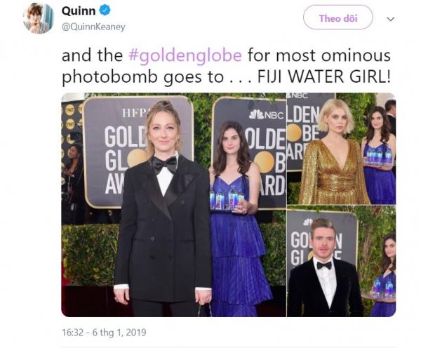 #Cô_gái_Fiji trở thành từ khoá hot tại Quả Cầu Vàng: Đi bưng nước cũng thành người nổi tiếng