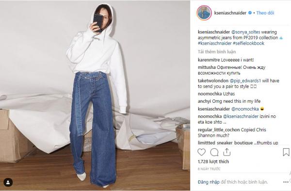Quần jeans bất đối xứng - 'Quái vật' thời trang đầu năm 2019