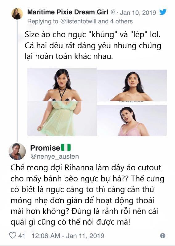 BST đồ lót mới của Rihanna nhận 'gạch đá' vì thiết kế phân biệt với những người ngực to