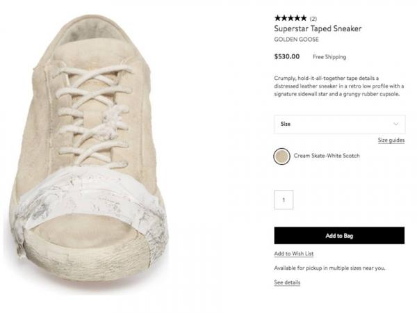 Thương hiệu cao cấp Golden Goose ra mắt mẫu 'giày đạp phân' giá hơn 13 triệu đồng