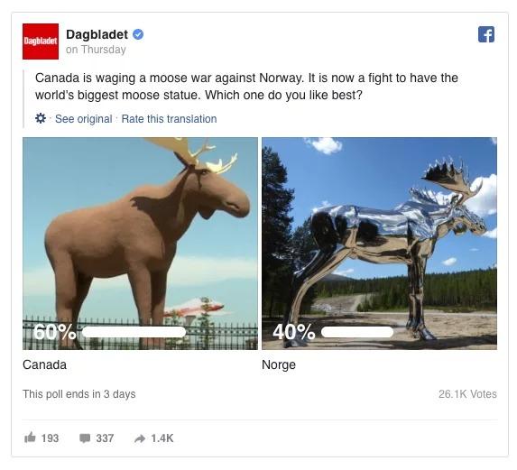 Canada và Na Uy 'tuyên chiến' để xem bức tượng nai sừng tấm của nước nào cao nhất thế giới