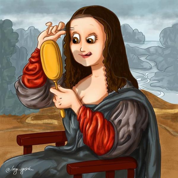 Hoạ sĩ vẽ lại hậu trường của những bức tranh nổi tiếng khiến ai cũng bật cười