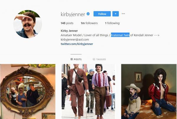 Tài năng 'chụp hình ké fame' Kendall Jenner đã giúp anh chàng này sở hữu hơn 1 triệu người theo dõi trên Instagram
