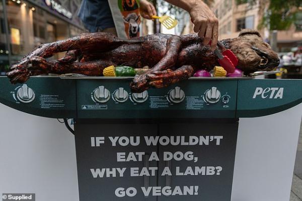 Tuyên truyền ăn chay, PETA... nướng 'thịt chó' ngay giữa phố mua sắm ở Australia